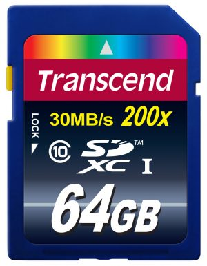 Transcend SDXC Class 10 64GB-0
